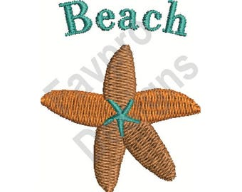 Beach Starfish - Machine Embroidery Design