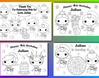 Mermaid Birthday Party favor, Mermaid coloring pages, PDF file