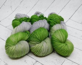 Rosemary- Hand-dyed Superwash Sock Yarn