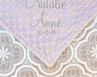 Baby Girl Blanket with Name, Newborn Gift,  Personalized Blankets for Babies, Custom Blanket for Baby Girls, Minky Baby Blanket, 30x36