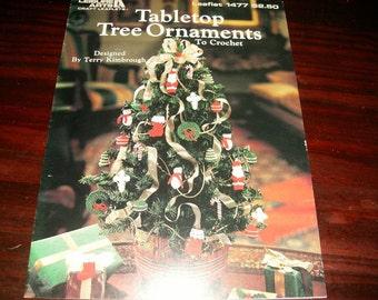 Thread Crochet Pattern Tabletop Tree Ornaments Leisure Arts 1477 Pattern Leaflet Terry Kimbrough