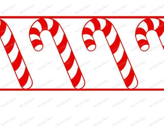 Candy Cane border template