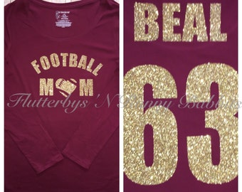Custom football mom shirt shirt momshirt football mom