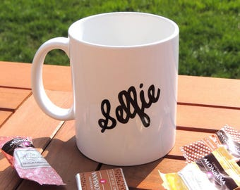 White ceramic mug selfie, tea, coffee, selfie coffee mug, Tea Cup, mug