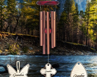 Personalized Memorial Wind Chime - laser etched with your loved one's name