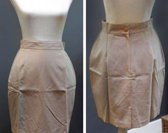 Vintage Khaki Pencil Skirt, Khaki Work Skirt, Vintage Khaki Skirt, Classic Pencil Skirt, Made in Canada, Simple Khaki Pencil Skirt