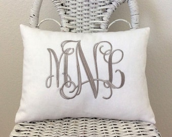 Personalized Pillow Cover WITH INSERT Grad Gift Baby Gift Shower Gift Wedding GIft
