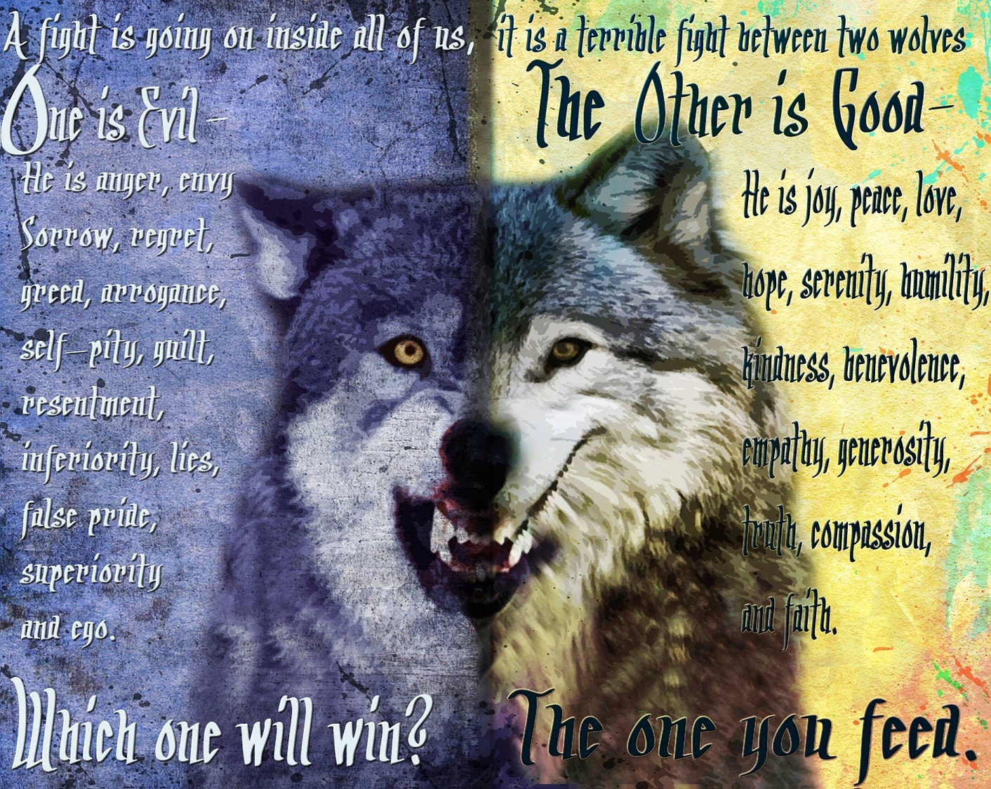 Cherokee Indian Quotes The One You Feed Cherokee Legendwolf