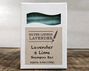 Lavender & Lime Shampoo Bar