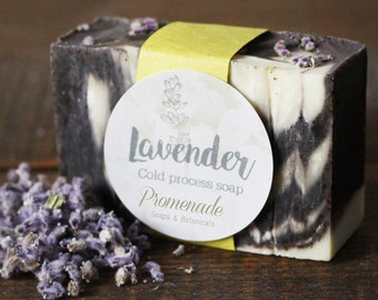 Natural Soap - LAVENDER - Homemade Soap, Gift for Her, Gift for Him, All Natural Soap, Artisan Soap, Cold Process Soap, Organic, Soap