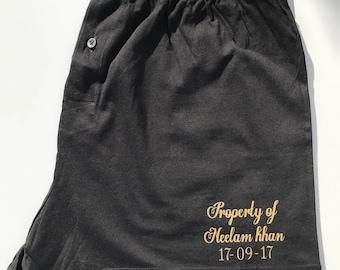 Groom boxers, property of boxers, personalised boxers, pants, underwear, groom gift, groomsmen gift, gift for the groom