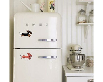 Dachshund Refrigerator Magnets: Wahoo Wiener Smooth Coat