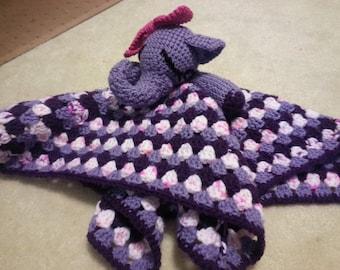 Elephant snuggly lovey comfort blanket (XL)