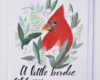 Cardinal Blank You Card - Any Occasion - Greeting Card
