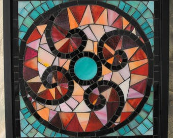 Ocean Gate Mosaic Art Wall Piece by Brenda Pokorny Inspired by Garden Gates in Beverly Hills, California