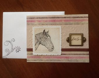 Blank horse greeting card
