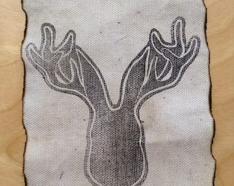 Jackalope canvas patch