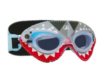 Personalized Giggly Goggles Shark swim goggles | Swimming Goggles for toddlers, Kids and Adults | Cool & comfortable swimming goggles
