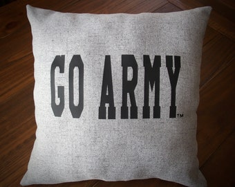 GO ARMY Beat Navy USMA Decorative Pillow Cover Grey Throw Pillow 18x18 West Point Pillow usma Pillow Pillow Army Pillow Cover