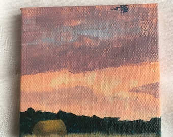 Original Landscape Painting on Small Canvas