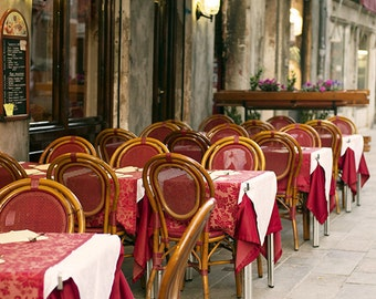 Venice Photography, Travel Photography, Italy, Cafe, Bistro, Fine Art Print, Wall Decor