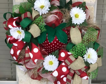 STRAWBERRY Wreath SUMMER Wreath