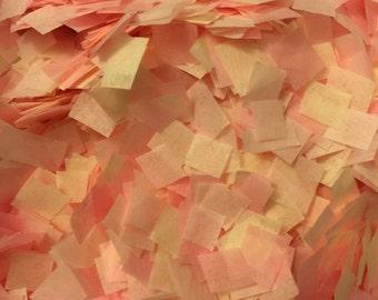 Pink Dark Pink Cream Ivory Blush Wedding Confetti. Biodegradable Eco Friendly Aisle Decoration. Flower Girl. Baby Shower. Bridal Shower