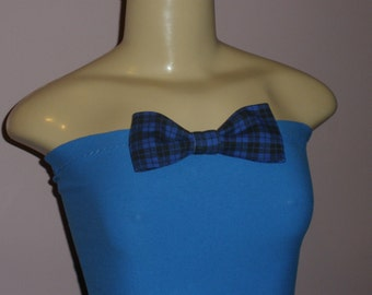 Women's Blue Halter Top with Cute Bow on Front Fits Size: Small/Mediun/Large, Halter, Halter Top, Top, Womens Clothing, Women's Top