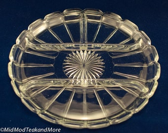 Vintage Glass Serving Platter/Dish