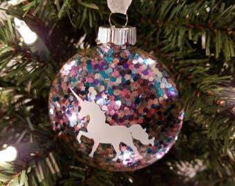 Unicorn Confetti Ornament