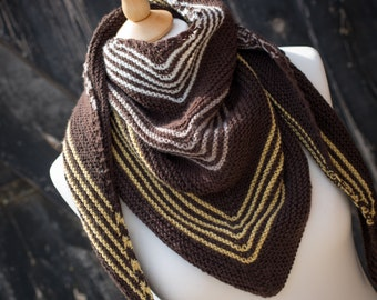 Hand Knit Shawl, Wrap, Scarf - Luxury Cashmerino; womens accessory, mens accessory, ready to ship