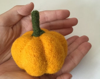 Felted Vegetable Pumpkin Felting Play Food Waldorf Wool Education Toy Kitchen Decor Decoration