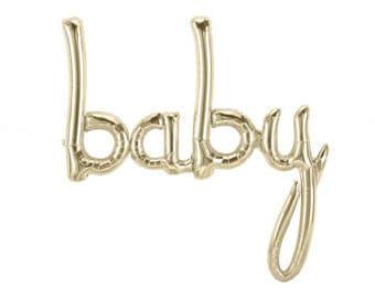 BABY script balloons-Baby Shower Balloon Banner, BABY Banner, Birthday