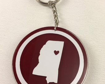 College Love Keychains - Mississippi State University