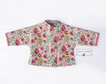 Girls Coat, Girls Jacket, Toddler Girl Clothing, Shabby Chic Toddler Jacket, Car Coat, Toddler Girl Clothes, Girl Clothes, Size 2T