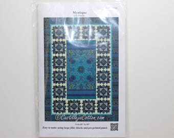 Mystique, a quilt panel pattern.  Can be used for any panel.  It shows a Mystique panel which I do not have.