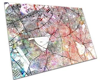 CLAPHAM London Street Map Art Print watercolour Poster Print MSDWCEN327