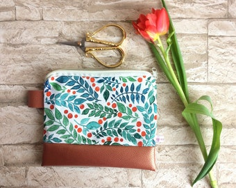 Floral pencil case / cosmetics case