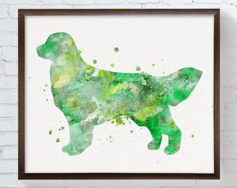 Golden Retriever Print, Golden Retriever Painting, Watercolor Golden Retriever, Dog Painting, Dog Art Print, Childrens Room Decor, Kids Room