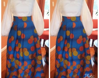 African clothing, Maxi skirt Java, Made to order,Java wax