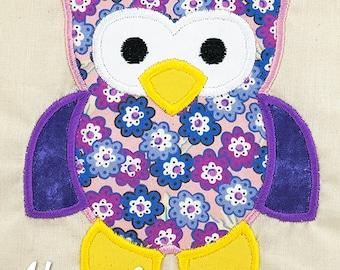 Owl Applique Embroidery Design, owl applique, woodlands owl, machine embroidery, applique, woodland applique, owl embroidery design, owls