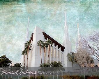 Las Vegas LDS Temple - Instant DIGITAL DOWNLOAD - Large Temple Print