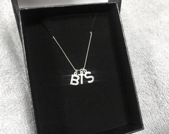 Kpop BTS Initial Sterling Silver Necklace