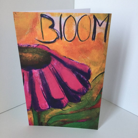 Bloom Blank Greeting Card Minnesota wild flower coneflower