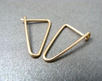 simple geometry ... 14k gold filled earrings