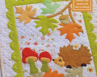 Fig Tree Quilts Figs and Woolies Forest Friends Hedgehog Quilt Applique Pattern FT 104W
