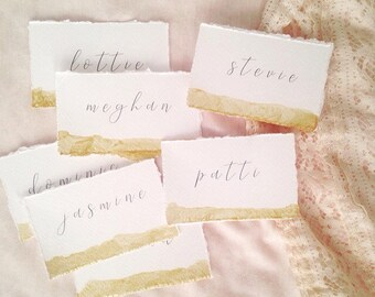 Plaque or marque-places, cartons, or peints, papeterie de mariage bordure frangée de mariage