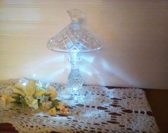 elegant crystal light centerpiece table night light led battery powered useful backup light poweroutage