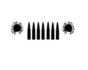 Jeep Bullets Decal in your choice of color
