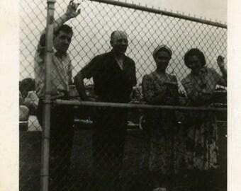 "Vintage Photo ""Watching the Game"" Snapshot Antique Black & White Photograph Paper Found Ephemera Vernacular Interior Design Mood - 81"